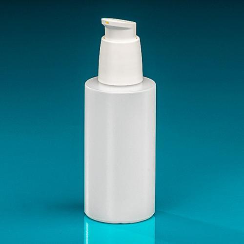 150 ml Flasche Green PE natur, Dispenser weiß verriegelbar, Hub 0,5 ml, Steigrohr ungekürzt