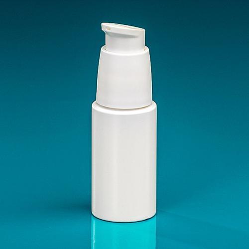 50 ml Flasche Green PE weiß Dispenser weiß verriegelbar, Hub 0,5 ml, Steigrohr ungekürzt