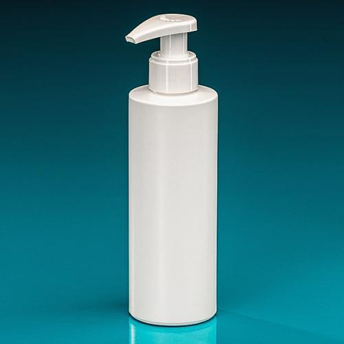 200 ml Flasche Green PE weiß Dispenser weiß verriegelbar, Hub 1,2 ml, Steigrohr ungekürzt
